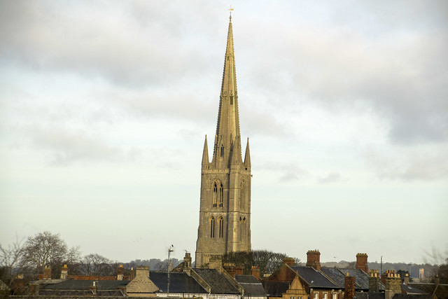 DSC_3450 Grantham Lincolnshire St Wulfram's Church Spire Constructed in the 14th Century at 86m (282ft) the spire ranks as one of the highest in the UK