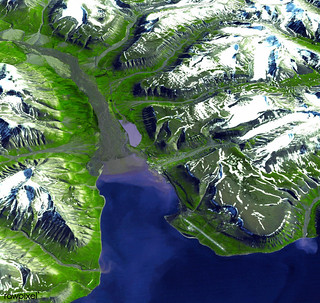 Longyearbyen, the largest island of the Svalbard archipelago, part of the Kingdom of Norway. Original from NASA. Digitally enhanced by rawpixel.