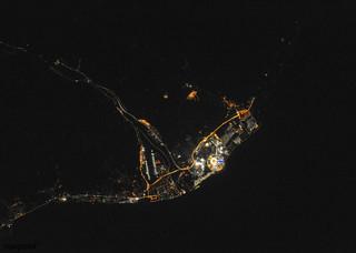 Night view of Sochi, Russia during Olympics. Feb 10th, 2014. Original from NASA. Digitally enhanced by rawpixel.