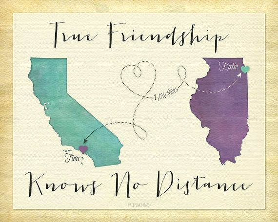 Friendship Quotes : Long Distance Best Friend Gift, Going ...