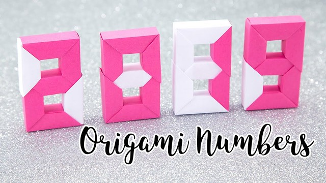 Origami Numbers Tutorial - 2019 New Year - Paper Kawaii