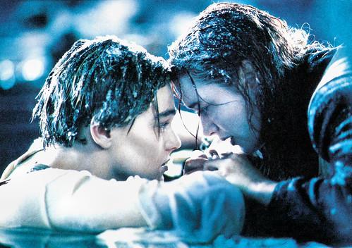 Kate Winslet and Leonardo DiCaprio in Titanic (1997)