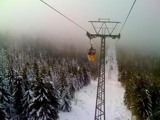 Bocksberg ropeway with forest around