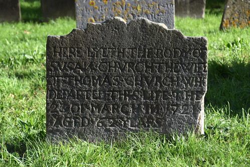 Here lyeth the body of Susan Church the wife of Thomas Church (1722) | by Simon_K