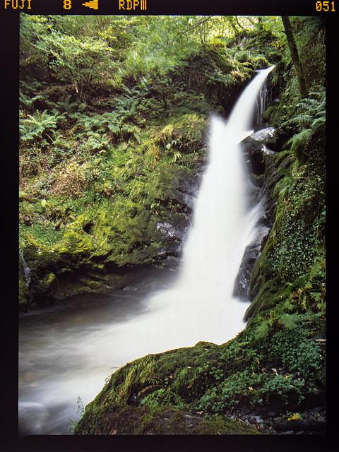 Waterfall on film