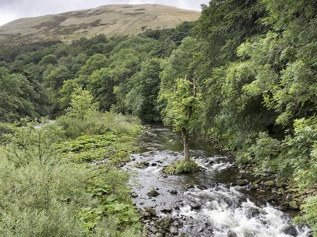 River Lune at Salterwath Bridge, Howgill Fells near Tebay, Cumbria, UK