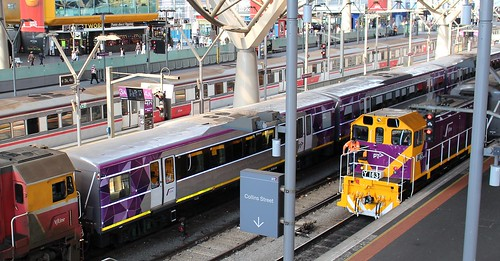 V/Line trains at Southern Cross | by Daniel Bowen