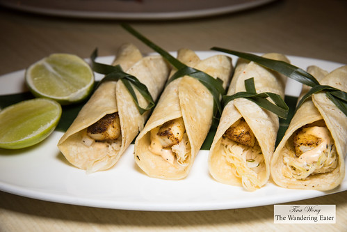 Baja Fish Tacos (two orders combined in one platter) | by thewanderingeater