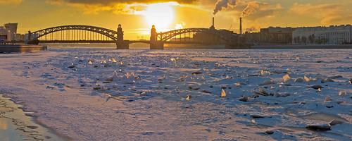 sanpetersburgo winter 2018 russia river neva санктпетербург зима нева панорама panorama paisaje city закат вечер atardecer sunset