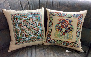 Celtic Dog Cushion 2 / Celtic Twins Brids Tote Bag | by Beelationship Embroidery Studio