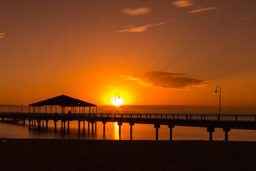 queensland australia redcliffe jetty pier sunrise sea water hoya pro nd1000 canon 5d mark iii long exposure sky cloud alkerr alkerrmedia