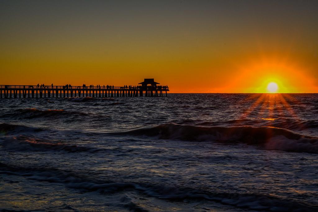 Naples, Florida - Sunset at the Naples Pier