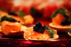 Smoked salmon with caviar!