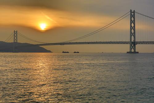 akashibridge akashikaikyobridge suspensionbridge japan kobe sunset hdr hdrphotography hdrsunset