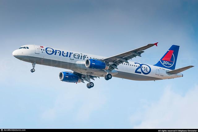 [CDG.2013] #Onur.Air #8Q #Airbus #A321 #TC-ONJ #2nd.A321.Prototype #awp