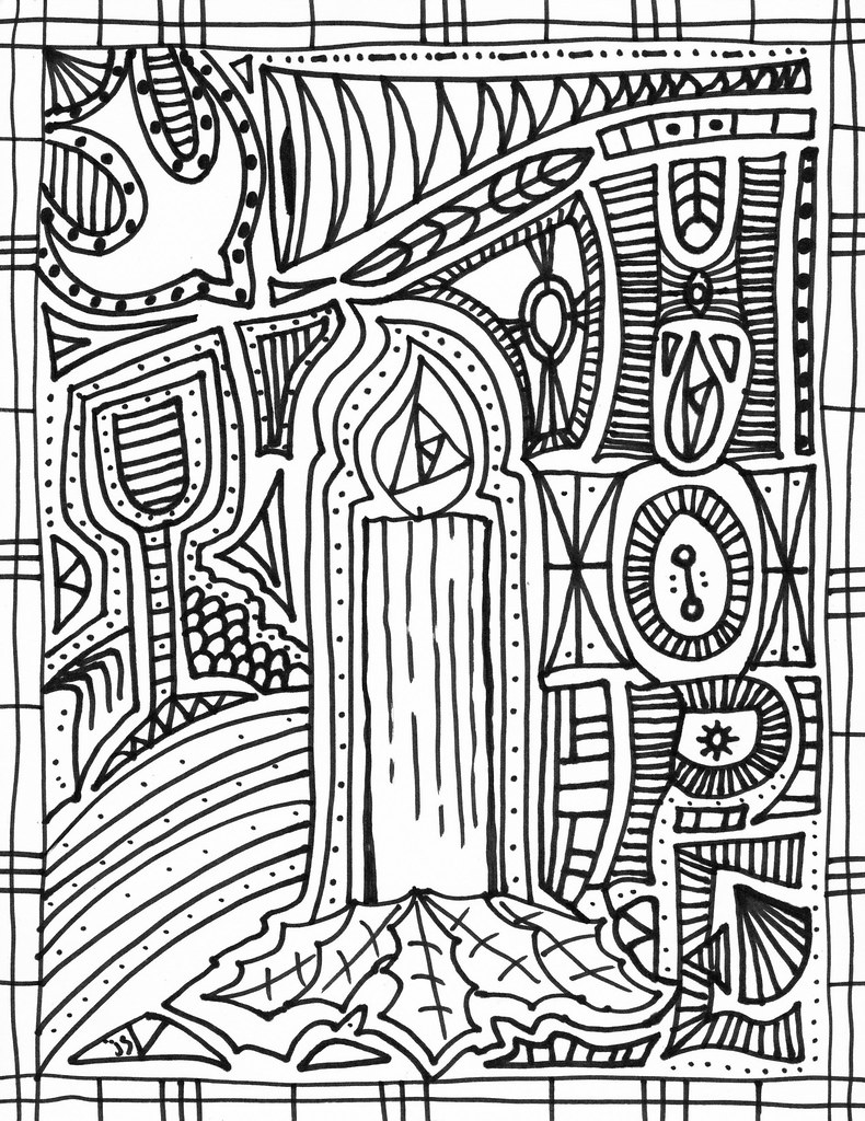 Advent1 Hope | Advent coloring page | John | Flickr