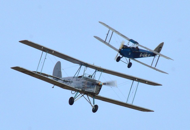 de Havilland DH60 Cirrus Moth G-EBLV & Blackburn B2 G-AEBJ