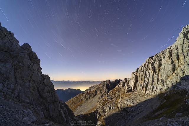 Star trails over Wetterstein