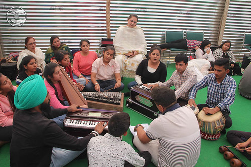 Devotees performing in Practicing Session
