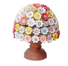 Vaso de flor em madeira