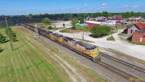 uprr unionpacific trains railroads drones
