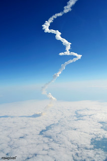 Final Launch of the Space Shuttle Endeavour, STS-134 Mission, 16 May 2011. Original from NASA. Digitally enhanced by rawpixel.