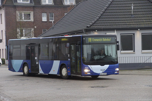 MAN Lion's City von Mulert GmbH & Co. KG 9201 met kenteken KLE-VM 71 in Emmerich am Rhein bus station 12-01-2019