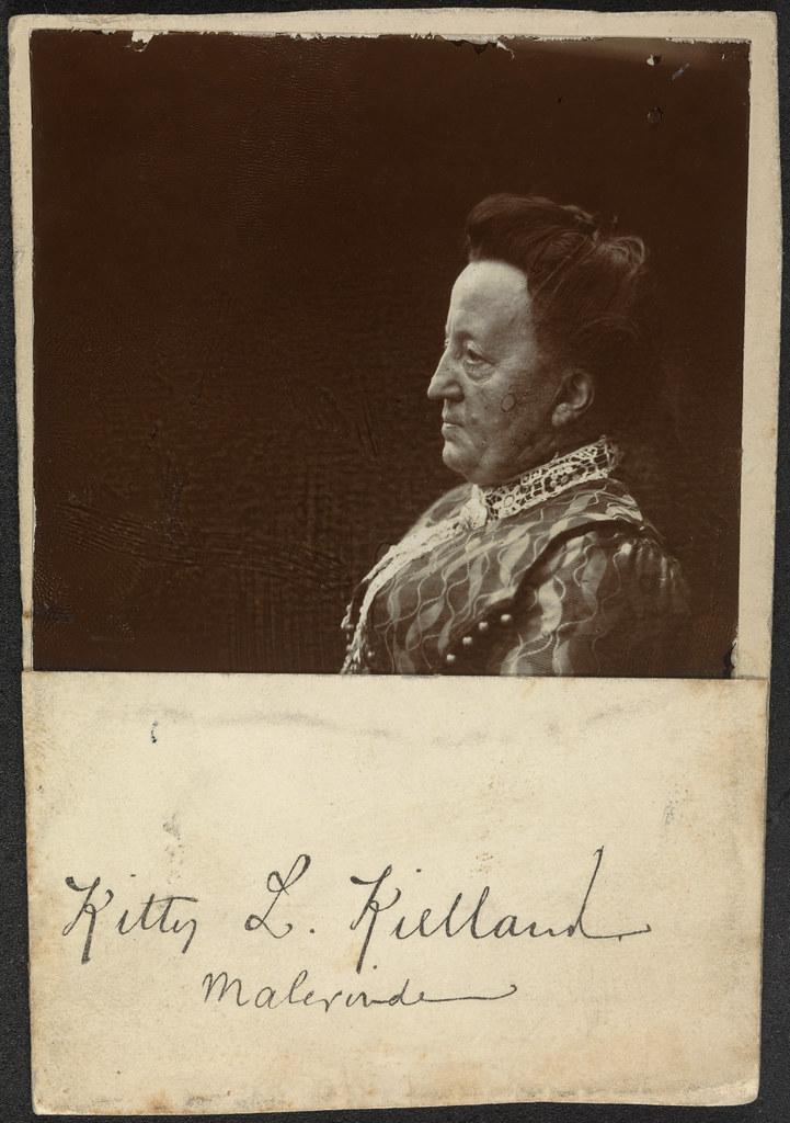 Portrett av kunstner Kitty Kielland (1843-1914) / Portrait of painter Kitty Kielland (1843-1914)