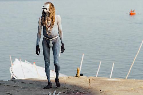 Saddhu in Langoti Loincloth, Varanasi India
