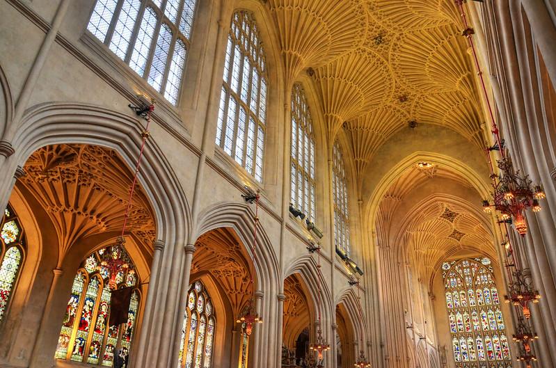 Bath Abbey, Bath - the interior