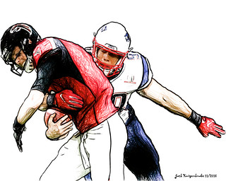 New England Patriots Trey Flowers - Atlanta Falcons Matt Ryan | by Jack Kurzenknabe