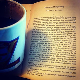 A little reading about Spinoza, and some coffee  | via Insta