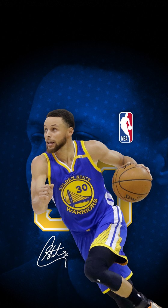 ... Steph Curry (Golden State Warriors) iPhone X/XS/XR Wallpaper