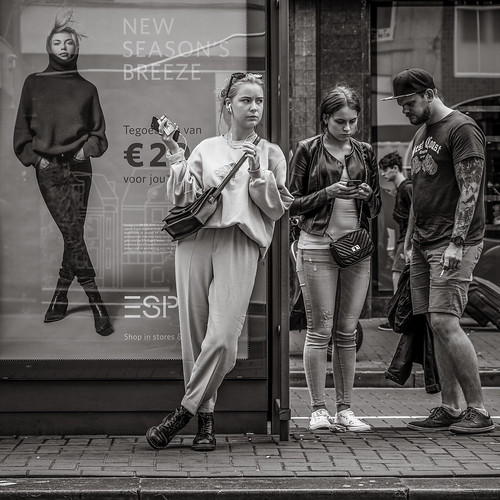 waiting for the tram | by Gerard Koopen