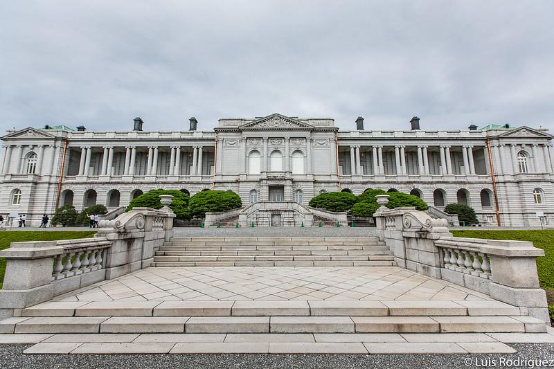 Vista trasera del palacio