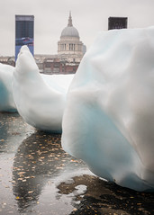 'Ice Watch London' by Olafur Eliasson in collaboration with Minik Rosing, outside Tate Modern - December 2018