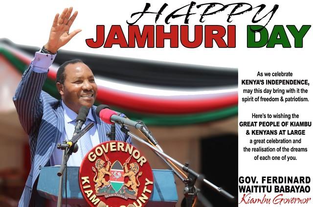 Governor Waititu Babayao