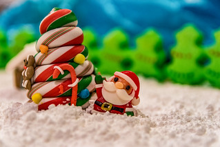 Gummy Santa and Candy Cane Christmas Tree