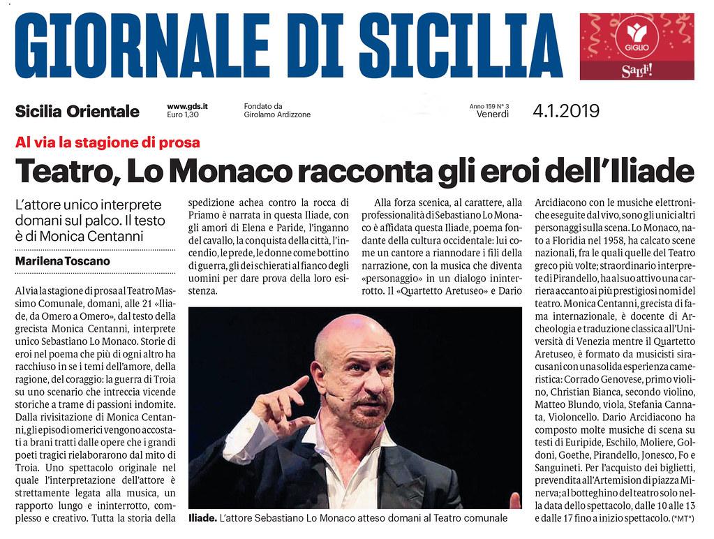 4 gennaio 2019 - Giornale di Sicilia