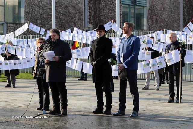 19.01.2019 Berlin: Völkisch-rassistische Kundgebung von Nikolai Nerling