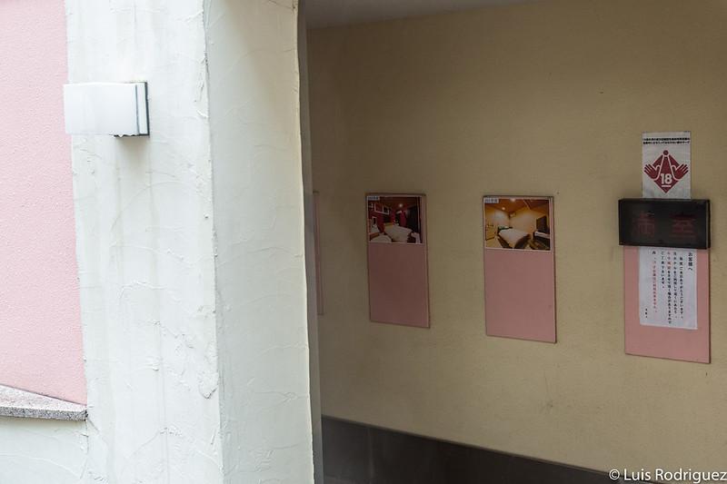 Habitaciones de un love hotel en Shibuya