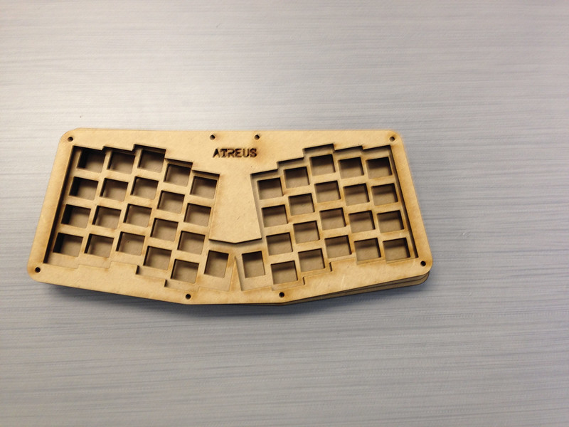 wooden computer keyboard - assembled