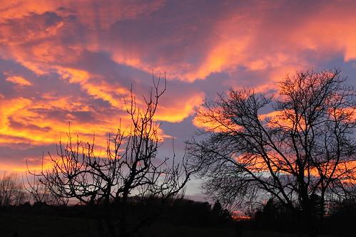 zahod večer duplek slovenija oblaki