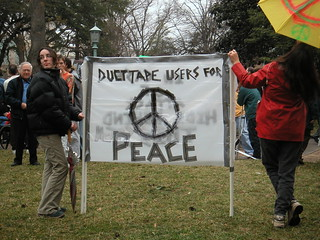 Anti-War Protest in Raleigh (2003 Feb)