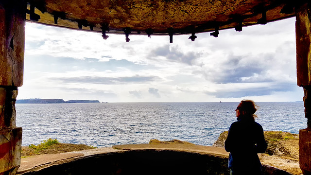 Looking out from a gun battery along the Brittany Coast near Quelern