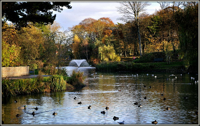 Southport's Hesketh Park in autumn