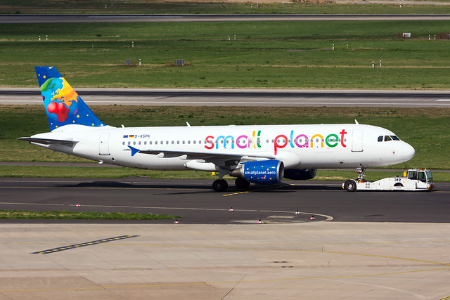 D-ASPK - Small Planet Airlines Germany - Airbus A320-214