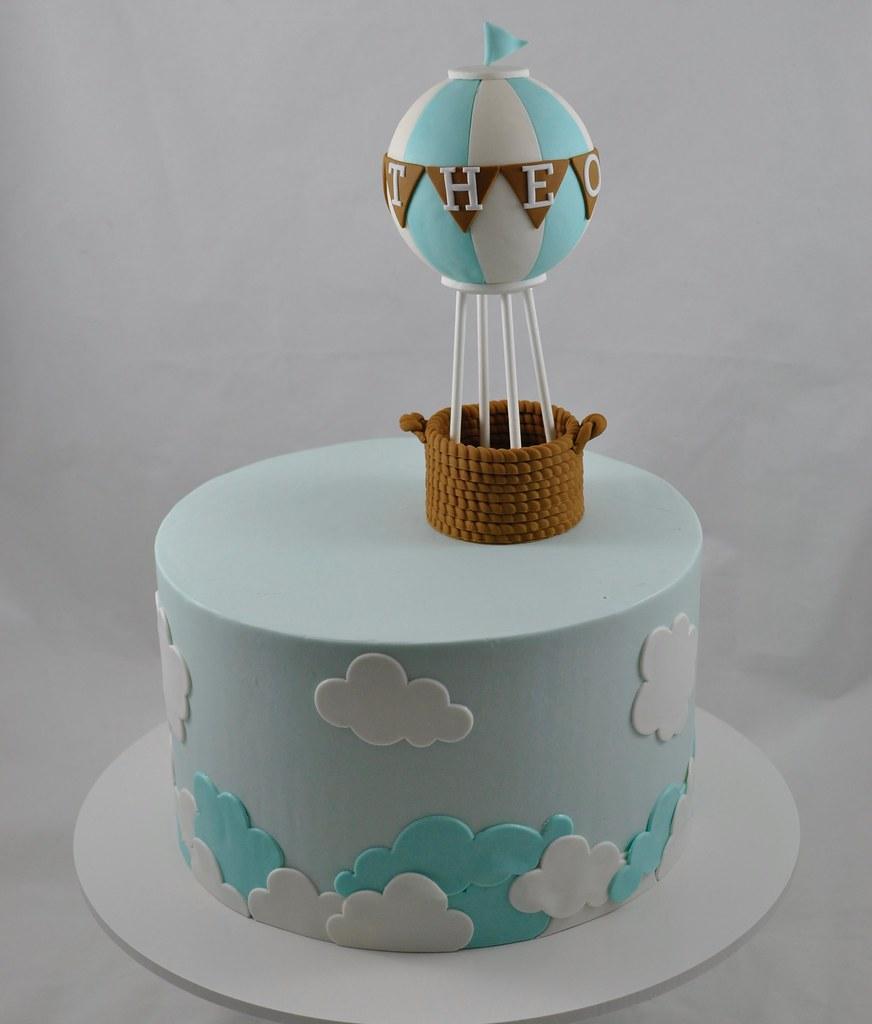 Excellent Hot Air Balloon Birthday Cake Jenny Wenny Flickr Funny Birthday Cards Online Necthendildamsfinfo