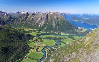 Romsdalen from Romsdalseggen, Møre og Romsdal, Norway