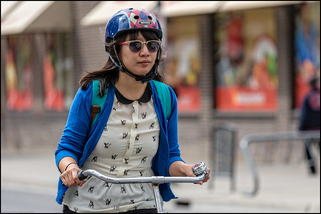 Nutcase Rider on Bank Street